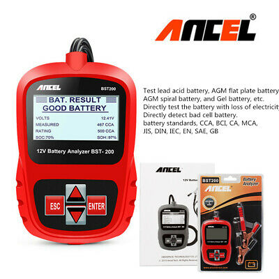 12V Digital Battery Load Tester Car AGM GEL Battery Analyser Tool 100-1100CCA