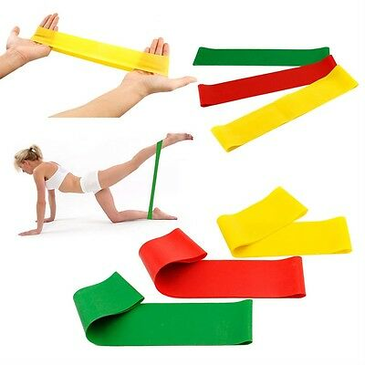 Resistance Workout Bands Pilates Fitness Excercise Rehab Yoga Core Loop D3