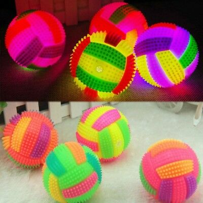 Flashing Bouncy Volleyball Ball LED Light Hedgehog Bouncing Kids Pet Dog_Toy