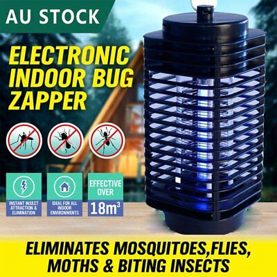 Electric Insect Zapper Mosquito Fly Bug Killer Control Trap Blue Lamp AU BT