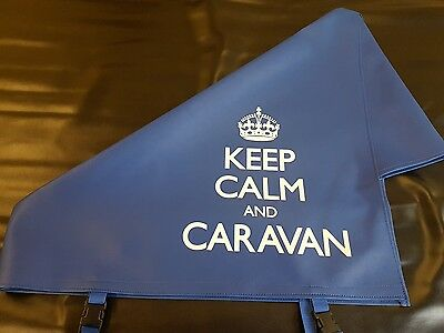New Blue Keep Calm and Caravan Hitch Cover