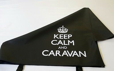 New Black Keep Calm and Caravan Hitch Cover