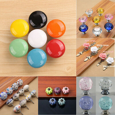 Luxury Ceramic Door Pull Handles Retro Cupboard Drawer Cabinet Knobs Hardware