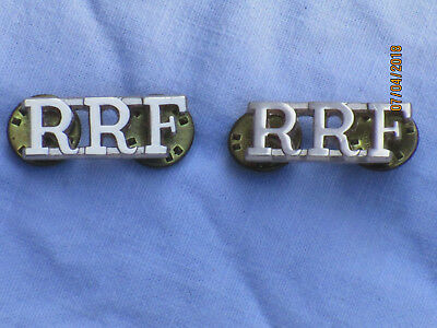 Royal Regiment of Fusiliers, RRF , Anodised Aluminium StayBright, Pair