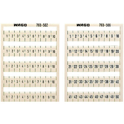 WAGO 793-4506 WMB Multiple Marking System Horizontal 41 ... 50 10x, white