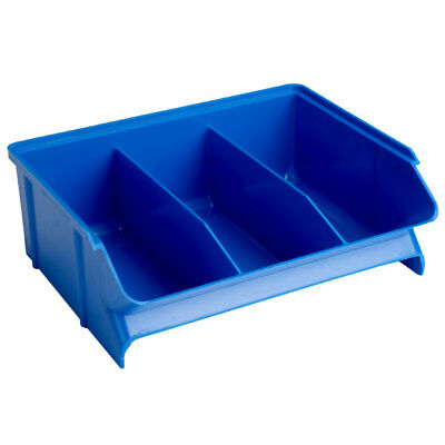 Treston 30-23L-6 Picking Bin 160 x 198 x 70mm Fixed Dividers - Blue