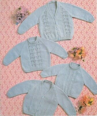 Baby knitting pattern Cardigan, Jumper and Vest in 8  ply