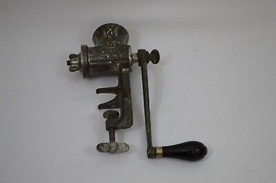 Vintage E C Simmons Keen Kutter Hand Cranked Meat Grinder KK21 MADE IN USA (16)