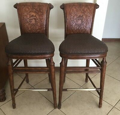 Ernest Hemingway Bar Stools Thomasville Furniture Great Condition