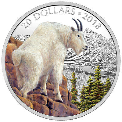 2018 Canada $10 1 oz Silver Proof Mettlesome Mountain Goat Coin GEM SKU53397