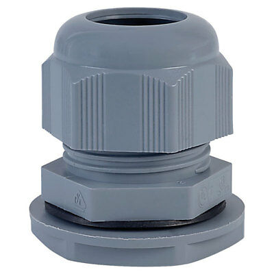 Alpha Wire PMC12 SL080 M12 Slate Dome IP68 Cable Gland Pck of 10