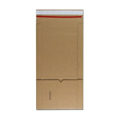 100 CD Manilla Book Wrap Mailing Envelopes E Flute 147mm x 125mm x 55mm 400gsm