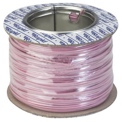 Rapid GW010330 Equipment Wire Single Core 1/0.6 Pink (Reel of 100m)