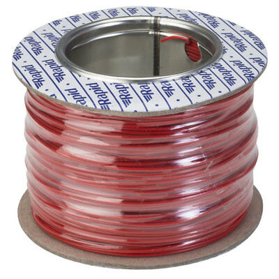 Rapid GW010335 Equipment Wire Single Core 1/0.6 Red (Reel of 100m)