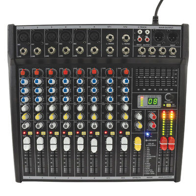 Citronic CSL-10 10 Channel Live Mixer + Studio Mixing Desk + 24-bit Effects + EQ