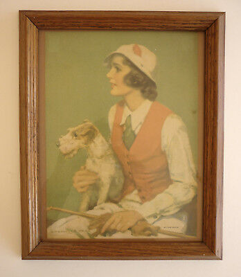 "Wire-Haired Fox Terriers - Framed Print - 1920's - London - 9-1/2"" X 11-1/2"""
