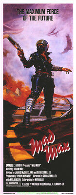 MAD MAX MOVIE POSTER Original MINT! Rolled 11x28 Special INSERT Size MEL GIBSON