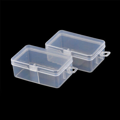 Charmant 2pcs Rectangle Transparent Clear Plastic Storage Box Small Parts Box TSUS
