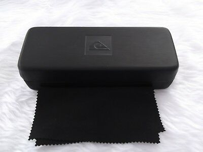 Used - Quicksilver black glasses / sunglasses case & cloth - proceeds to charity