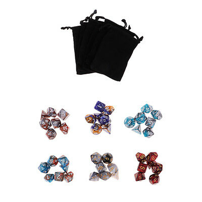 42pcs Polyhedral Dice for Dungeons &Dragons RPG DND MTG D20 D12 D10 D8 D6 D4