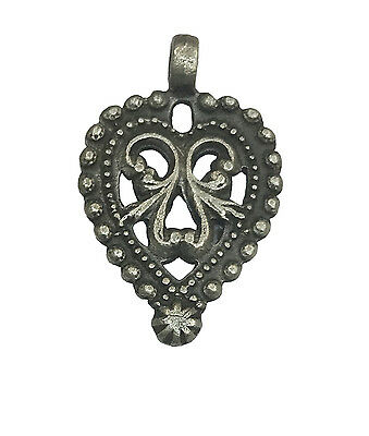 Antique Vintage Ethnic Silver Handmade Old Art Pendant Jewelry Ornament MB41SJ