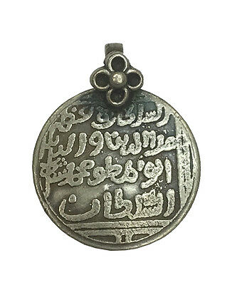 Antique Vintage Ethnic Silver Handmade Old Pendant Jewelry Ornament MB12SJ