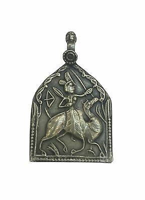 Antique Vintage Ethnic Silver Handmade Old Art Pendant Jewelry Ornament MB17SJ