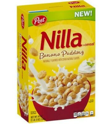 BRAND NEW! NOT IN STORES YET!!! Nilla Banana Pudding Cereal Post Brand