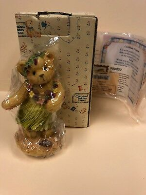 Cherished Teddies Leilani-Tahiti Sending You Warm & Friendly Island Breezes NIB