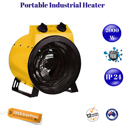 2000W Electric Industrial Fan Heater Drum Heating Shed Workshop Dryer Blower NEW