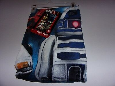 Disney Star Wars 100% Cotton Beach Towel 28 x 58 , Brand New