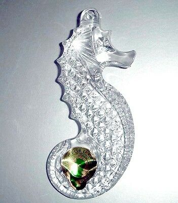 Waterford Celtic Seahorse Ornament Genuine Lead Crystal New No Box