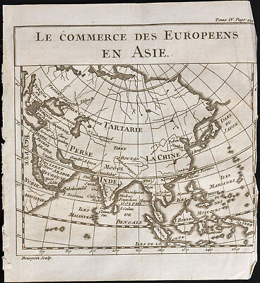 1743 - Karte Antik Asien - Antik map Asia - China, Japan, Indien, Russland