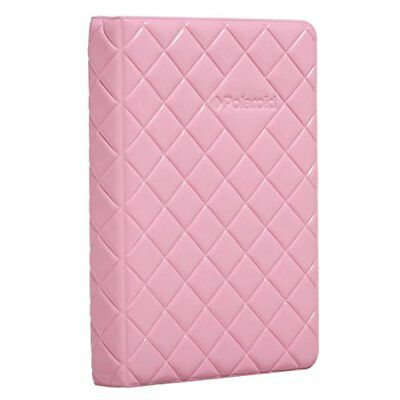 64-Pocket Photo Album w/Sleek Quilted Cover For 3x4 Photo Paper (POP) - Pink