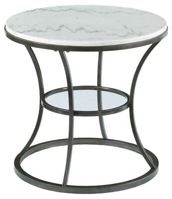 Round End Table in Bronze Finish [ID 3431745]