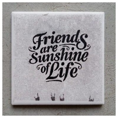 "Mosaic Tile - ""FRIENDS ARE SUNSHINE OF LIFE"" ~ Art & Craft Supplies"