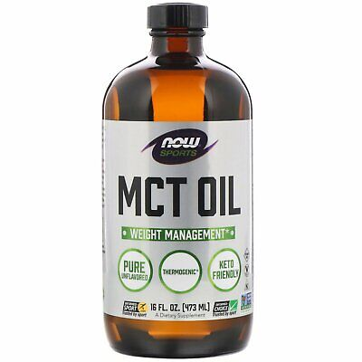 Now Foods Sports MCT Oil Pure 16 fl oz 473 ml GMP Quality Assured, Kosher,