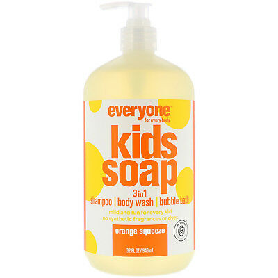EO Products  Everyone Soap for Every Kid  Orange Squeeze  32 fl oz  960 ml