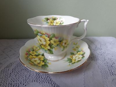Royal Albert Bone China Yellow Primulette Dainty Gainsborough Style Cup & Saucer