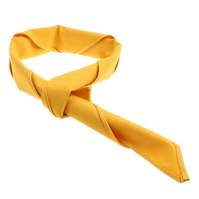 Yellow Chef Necktie Neckerchief for Cafes Buffet Restaurant Dining Hall