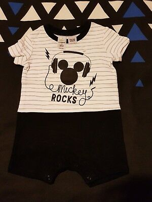 Boys brand new MICKEY MOUSE romper size 0