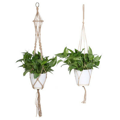 Handmade Macrame Plant Hanger Flowerpot Holder Gardenpot Long Lifting Rope Decor