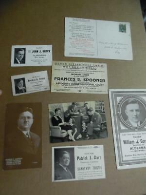 1914-1944 Chicago Illinois Politicians Advertising Card lot of 8 Congress City