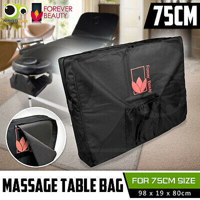 BLACK Carry Bag Case For Massage Table Portable Beauty Therapy 75cm Wide