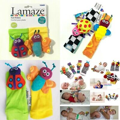 Newborn Baby Kid Child Wrist Socks Rattles Toy Hand Foot Finders Decors Gifts 0+