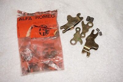 Alfa Romeo 105 series HAND BRAKE SHOE CABLE ASSEMBLIES, SET, NEW OLD STOCK