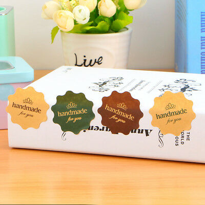 """Stickers - """"Handmade for You"""" -  Set of 24"""