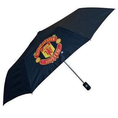 Manchester United F.c. Men's United Licensed Automatic Golf Umbrella Mini Black