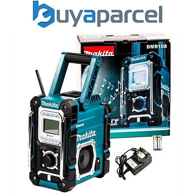 Makita DMR108 Job Site Radio BLUE Bluetooth + USB Charger - 7.2 - 18v Lithium