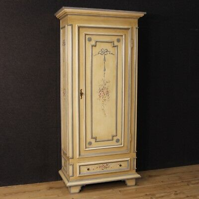 Armoire wardrobe Italian furniture lacquered and painted wood antique style 900